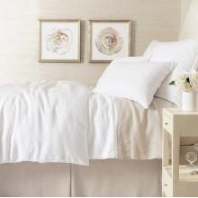 Lush Linen White Bedding | Gracious Style