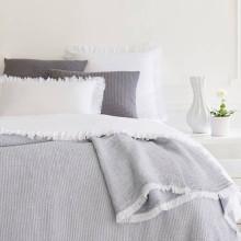 Hoyt Grey white Blankets | Gracious Style