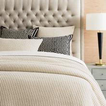 Pick Stitch Natural Bedding | Gracious Style