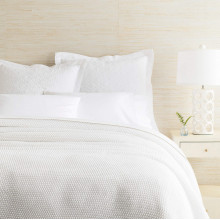 Remy Knit White Blankets | Gracious Style