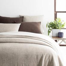 Noah Linen Grey Bedding | Gracious Style