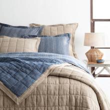 Holden Linen Natural denim Bedding | Gracious Style