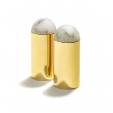 Amare Salt And Pepper, Set Brass, Set Of 2