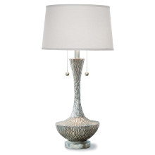Embossed Vessel Table Lamp, Ambered Silver | Gracious Style