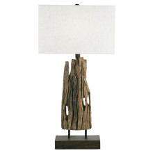 Reclaimed Wood Table Lamp | Gracious Style