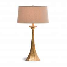 Tapered Hex Column Table Lamp, Antique Gold Leaf | Gracious Style
