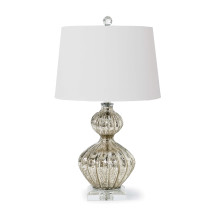 Ripple Table Lamp, Antique Mercury | Gracious Style