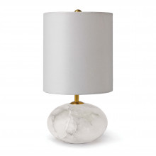 Alabaster Mini Orb Table Lamp | Gracious Style