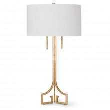 Le Chic Table Lamp, Antique Gold Leaf | Gracious Style