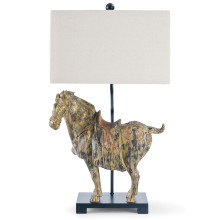 Dynasty Horse Table Lamps Pair | Gracious Style
