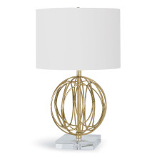 Ofelia Table Lamp, Gold Leaf | Gracious Style