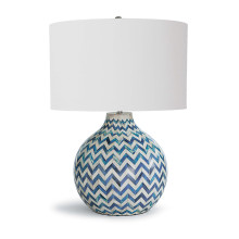 Chevron Bone Table Lamp, Indigo | Gracious Style