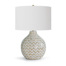 Chevron Bone Table Lamp, Natural | Gracious Style