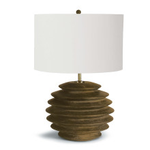 Accordion Table Lamp Round, Natural | Gracious Style