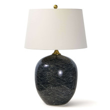 Harbor Ceramic Table Lamp, Black | Gracious Style