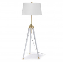 Brigitte Floor Lamp, Natural Brass | Gracious Style