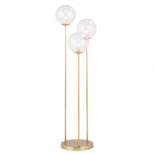 Rio Triple Floor Lamp, Natural Brass | Gracious Style