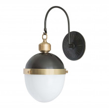 Otis Sconce, Blackened Brass and Natural Brass | Gracious Style