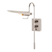 Raven Task Sconce, Polished Nickel | Gracious Style