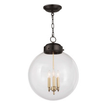 Globe Pendant, Oil Rubbed Bronze and Natural Brass | Gracious Style