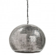 Pierced Metal Sphere Pendant, Polished Nickel | Gracious Style