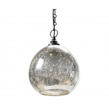 Glass Float Pendant, Antique Mercury | Gracious Style