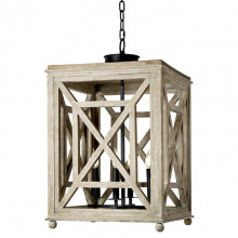 Wood Lattice Pendant Lantern | Gracious Style
