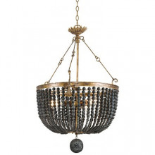 Fabian Wood Bead Chandelier | Gracious Style