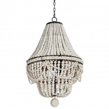 Malibu Chandelier, Weathered White | Gracious Style