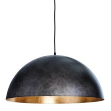 Sigmund Pendant Large, Black and Gold | Gracious Style