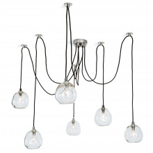 Molten Spider Chandelier Small With Clear Glass, Polished Nickel | Gracious Style