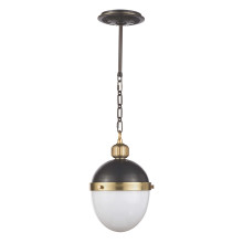 Otis Pendant Small, Blackened and Natural Brass | Gracious Style