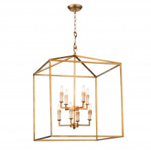 Cape Pendant Lantern, Antique Gold Leaf | Gracious Style