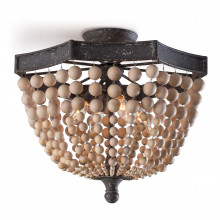 Wood Beaded Semi Flush Mount | Gracious Style