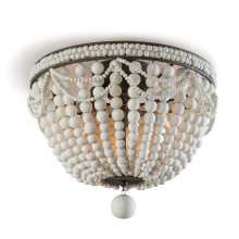 Malibu Flush Mount, Weathered White | Gracious Style