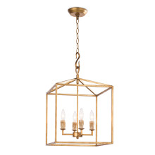 Cape Pendant Lantern Small, Antique Gold Leaf | Gracious Style