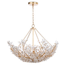 Cheshire Basin Chandelier, Gold Leaf | Gracious Style