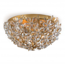 Cheshire Flush Mount, Gold Leaf | Gracious Style