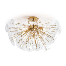 Poppy Glass Semi Flush Mount, Clear | Gracious Style