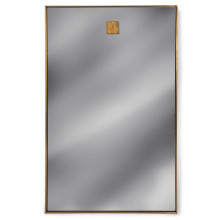 Hanging Rectangle Mirror, Natural Brass | Gracious Style