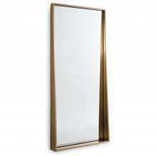 Gunner Mirror, Natural Brass | Gracious Style