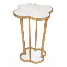 Clover Side Table, Natural Brass | Gracious Style
