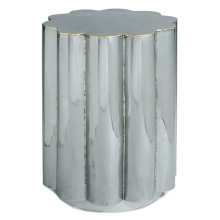 Scalloped Side Table, Hand Braised Metal | Gracious Style