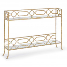 Geometric Shelf Console Table | Gracious Style