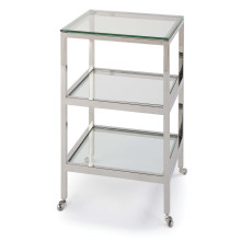 Alister Side Table, Polished Nickel | Gracious Style