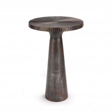 Ellis Side Table Large, Blackened Zinc | Gracious Style
