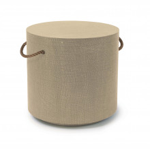 Aegean Round Side Table, Natural | Gracious Style