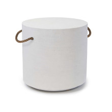 Aegean Round Side Table, White | Gracious Style