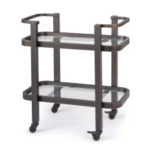 Carter Bar Cart Small, Oil Rubbed Bronze | Gracious Style