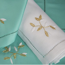 Bagatelle White Embroidered Table Linens | Gracious Style